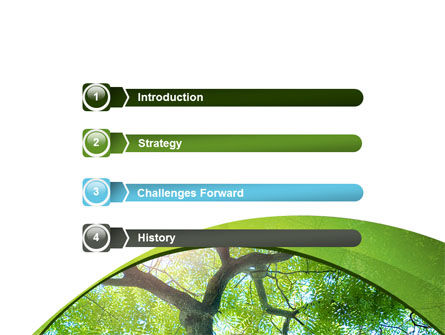 Tree Top PowerPoint Template, Slide 3, 08163, Nature & Environment — PoweredTemplate.com