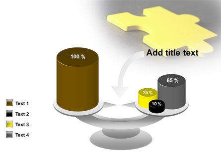 Free Yellow Jigsaw On A Dark Gray Surface PowerPoint Template Slide 10