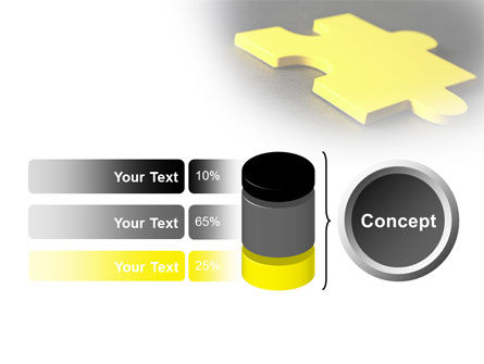 Free Yellow Jigsaw On A Dark Gray Surface PowerPoint Template Slide 11