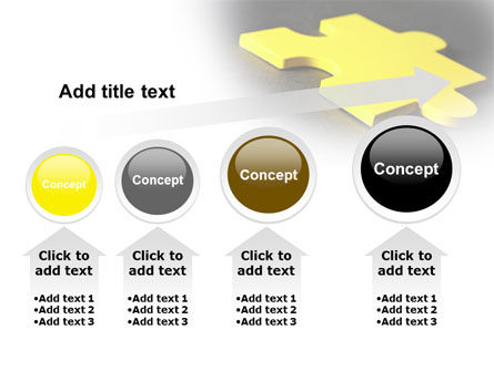 Free Yellow Jigsaw On A Dark Gray Surface PowerPoint Template Slide 13