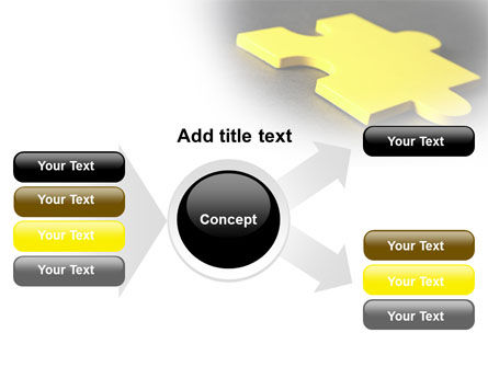 Free Yellow Jigsaw On A Dark Gray Surface PowerPoint Template Slide 14