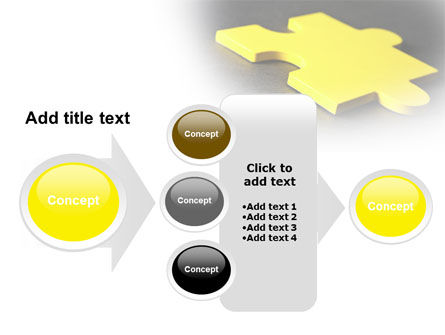 Free Yellow Jigsaw On A Dark Gray Surface PowerPoint Template Slide 17