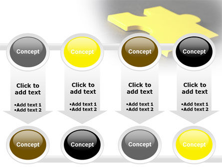 Free Yellow Jigsaw On A Dark Gray Surface PowerPoint Template Slide 18
