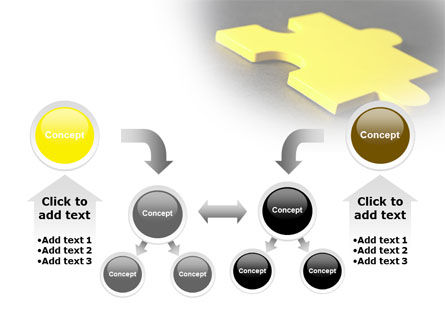 Free Yellow Jigsaw On A Dark Gray Surface PowerPoint Template Slide 19