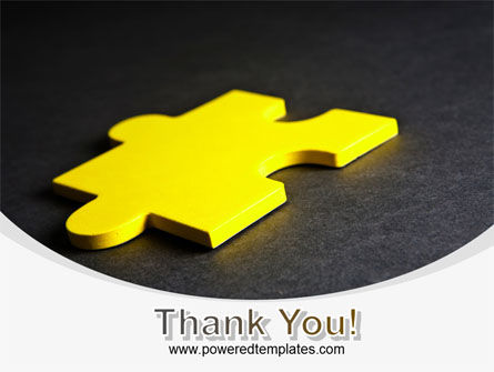 Free Yellow Jigsaw On A Dark Gray Surface PowerPoint Template Slide 20