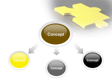 Yellow Jigsaw On A Dark Gray Surface Free PowerPoint Template, Slide 4, 08165, Consulting — PoweredTemplate.com
