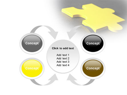 Free Yellow Jigsaw On A Dark Gray Surface PowerPoint Template Slide 6