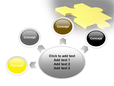 Free Yellow Jigsaw On A Dark Gray Surface PowerPoint Template Slide 7