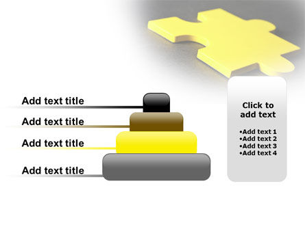 Free Yellow Jigsaw On A Dark Gray Surface PowerPoint Template Slide 8