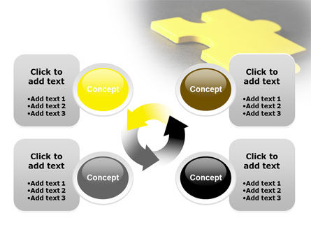 Free Yellow Jigsaw On A Dark Gray Surface PowerPoint Template Slide 9