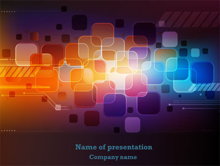 Color Collage PowerPoint Template, 08167, Abstract/Textures — PoweredTemplate.com