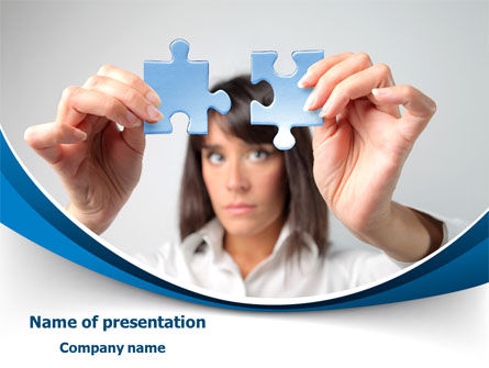 Folding Puzzle PowerPoint Template, 08168, Consulting — PoweredTemplate.com