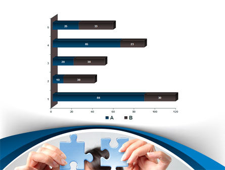 Folding Puzzle PowerPoint Template Slide 11