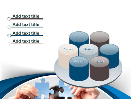 Folding Puzzle PowerPoint Template Slide 12