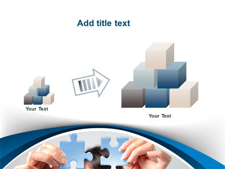 Folding Puzzle PowerPoint Template Slide 13