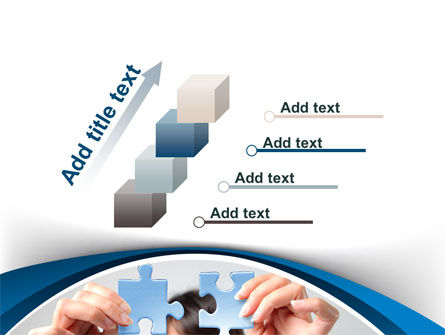 Folding Puzzle PowerPoint Template Slide 14