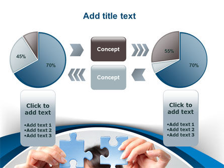 Folding Puzzle PowerPoint Template Slide 16