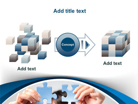 Folding Puzzle PowerPoint Template Slide 17