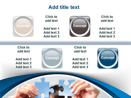 Folding Puzzle PowerPoint Template Slide 18