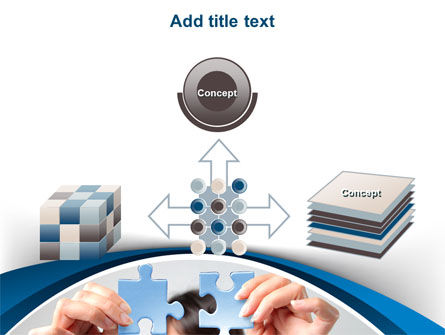 Folding Puzzle PowerPoint Template Slide 19