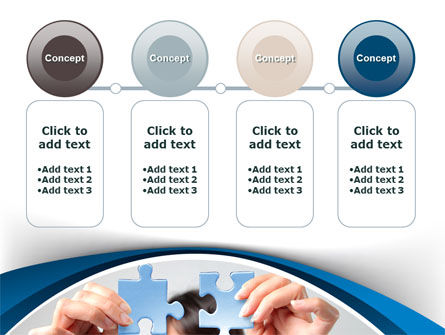 Folding Puzzle PowerPoint Template Slide 5