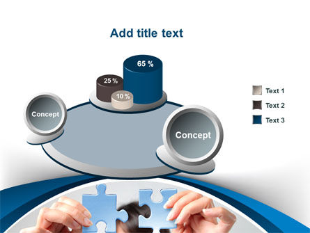 Folding Puzzle PowerPoint Template Slide 6