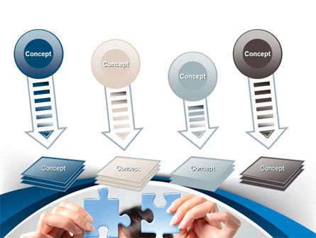 Folding Puzzle PowerPoint Template Slide 8
