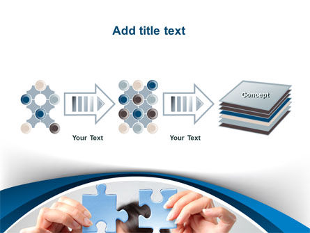 Folding Puzzle PowerPoint Template Slide 9