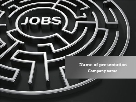 Employment Labyrinth PowerPoint Template, 08169, Careers/Industry — PoweredTemplate.com