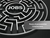 Careers/Industry: Beschäftigungslabyrinth PowerPoint Vorlage #08169