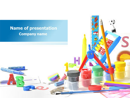 Children's Stationery PowerPoint Template