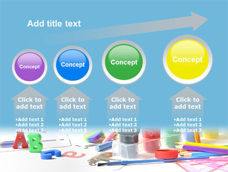 Children's Stationery PowerPoint Template Slide 13