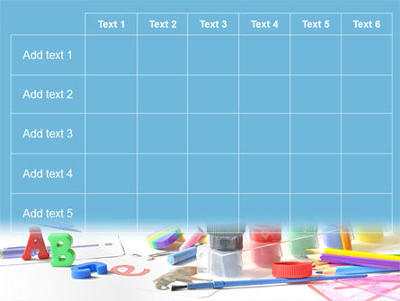 Children's Stationery PowerPoint Template Slide 15