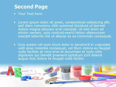 Children's Stationery PowerPoint Template Slide 2