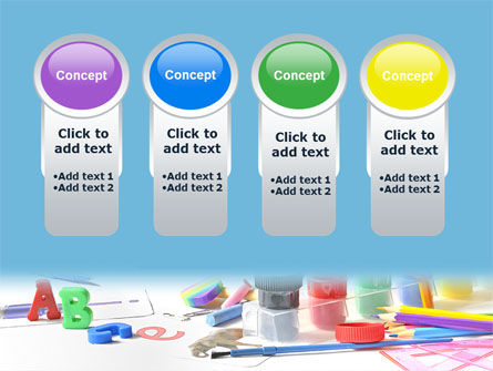 Children's Stationery PowerPoint Template Slide 5