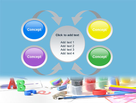 Children's Stationery PowerPoint Template Slide 6