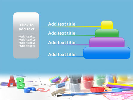 Children's Stationery PowerPoint Template Slide 8