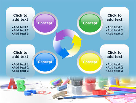 Children's Stationery PowerPoint Template Slide 9