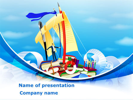 Stationery Ship PowerPoint Template, 08172, Business — PoweredTemplate.com