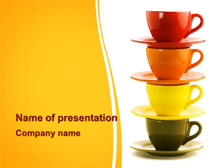 Free Cups PowerPoint Template