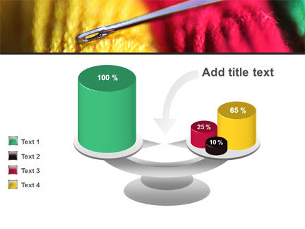 Threads and Needle Free PowerPoint Template Slide 10