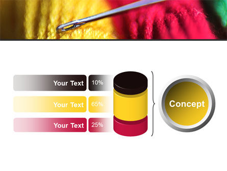 Threads and Needle Free PowerPoint Template Slide 11