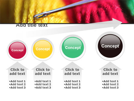Threads and Needle Free PowerPoint Template Slide 13
