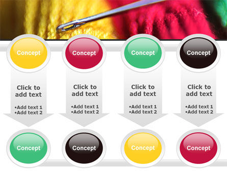 Threads and Needle Free PowerPoint Template Slide 18