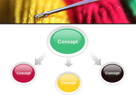 Threads and Needle Free PowerPoint Template Slide 4
