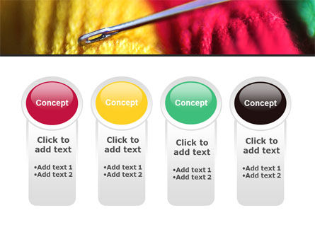 Threads and Needle Free PowerPoint Template Slide 5