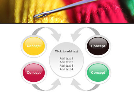 Threads and Needle Free PowerPoint Template Slide 6
