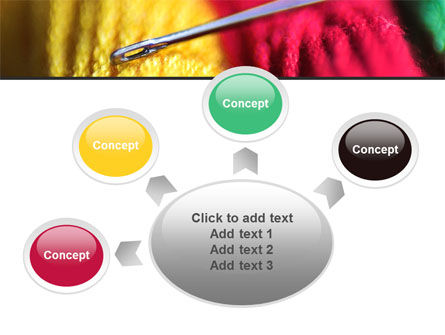 Threads and Needle Free PowerPoint Template Slide 7