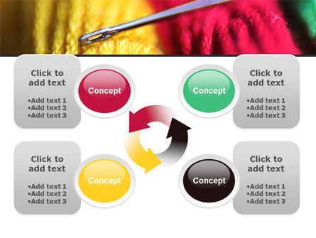 Threads and Needle Free PowerPoint Template Slide 9
