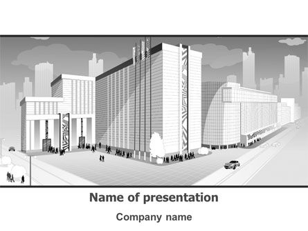 Construction: City Architecture PowerPoint Template #08176